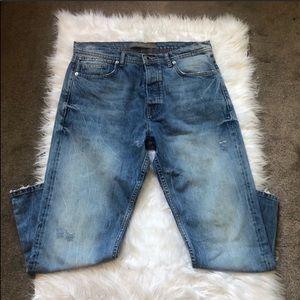 Zara Men Distressed Skinny Jeans